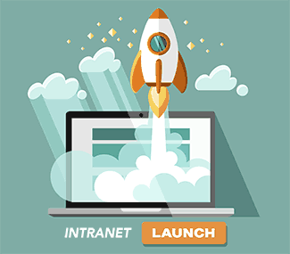 company intranet launch