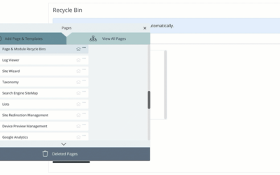 MyHub Tip: Restoring Deleted Pages & Modules