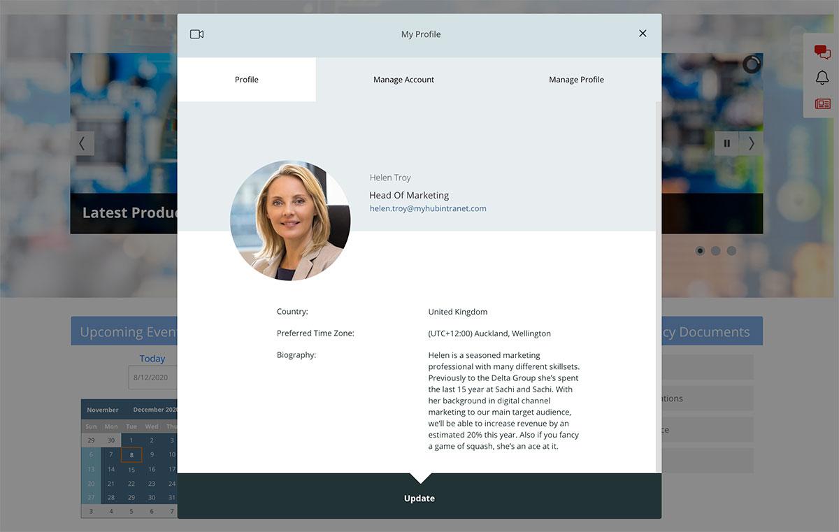 employee profile self help example